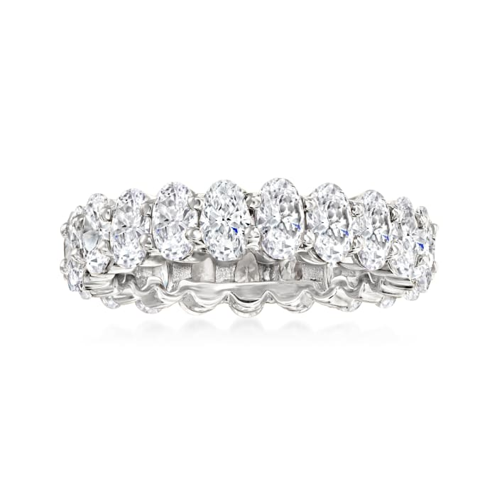 5.20 ct. t.w. CZ Eternity Ring in Sterling Silver