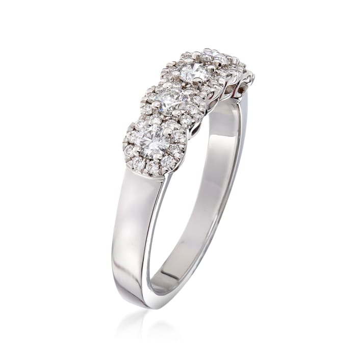 Henri Daussi .65 ct. t.w. Five-Stone Diamond Ring in 18kt White Gold