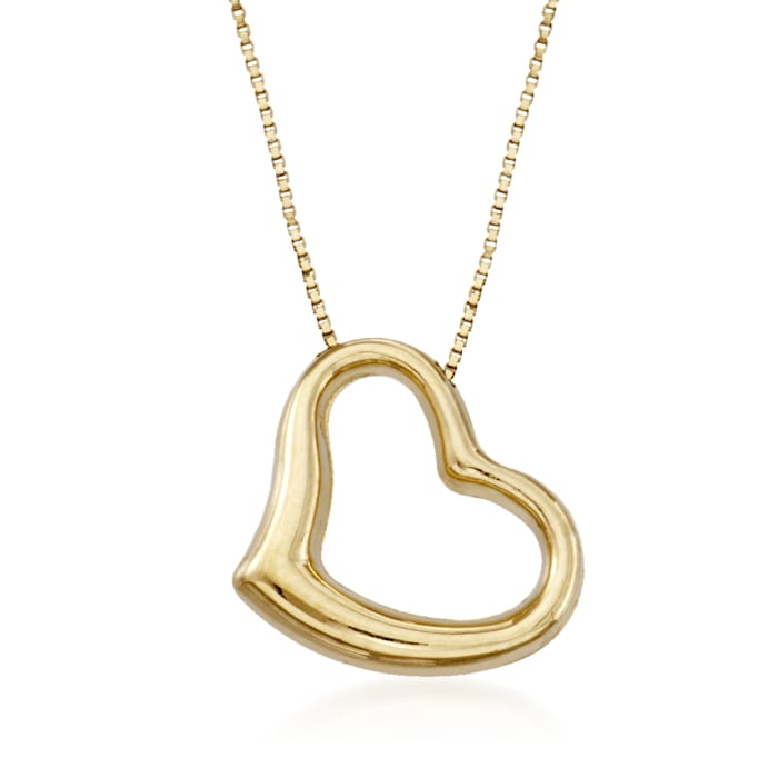 Roberto Coin 18kt Yellow Gold Heart Pendant Necklace