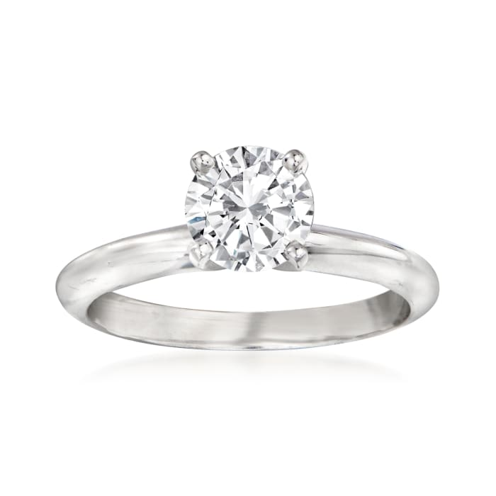 1.02 Carat Certified Diamond Engagement Ring in 14kt White Gold