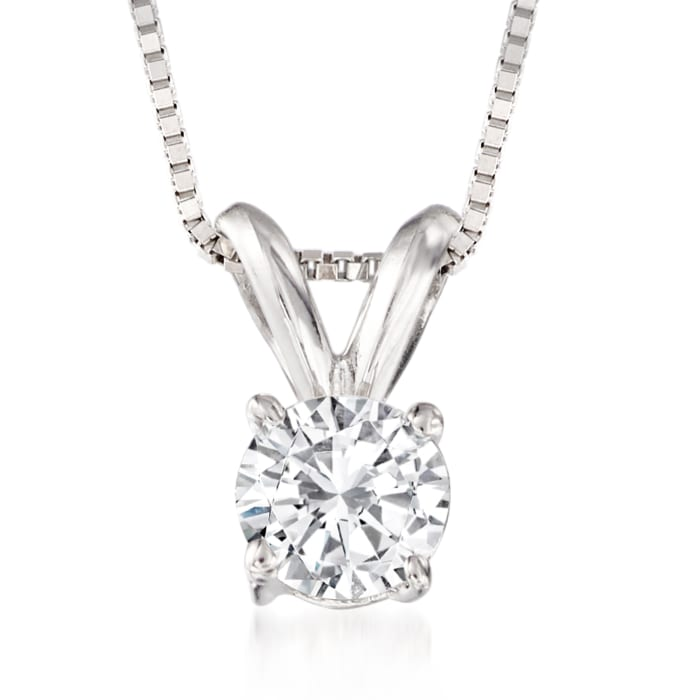 .33 Carat Diamond Solitaire Necklace in 14kt White Gold