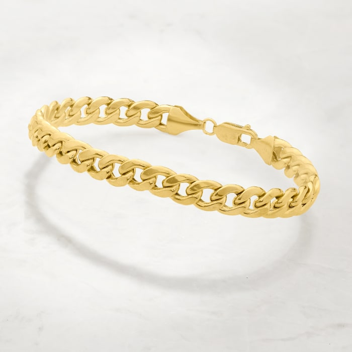 Men's 7.8mm Miami Cuban Link Bracelet in 14kt Yellow Gold