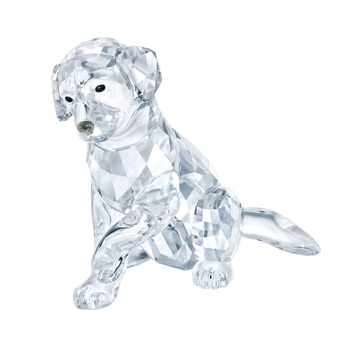 Swarovski Crystal Labrador Mother Figurine