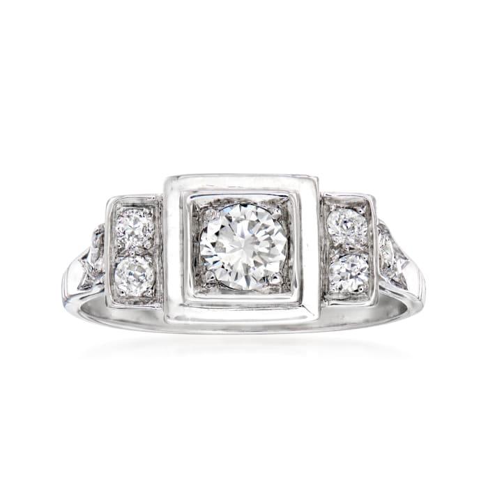 C. 1950 Vintage .65 ct. t.w. Diamond Ring in Platinum