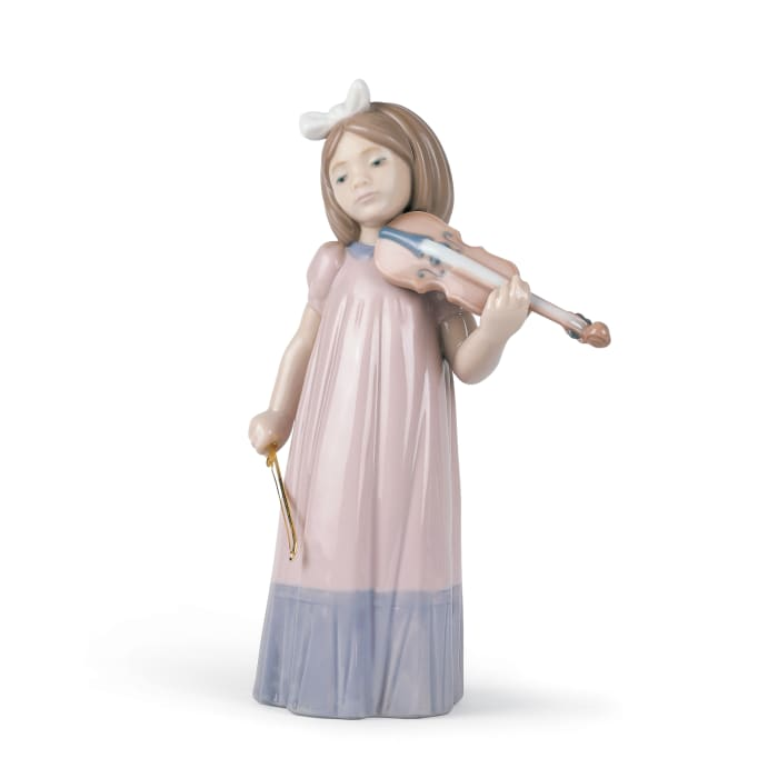 "Nao ""Girl with Violin"" Porcelain Figurine"