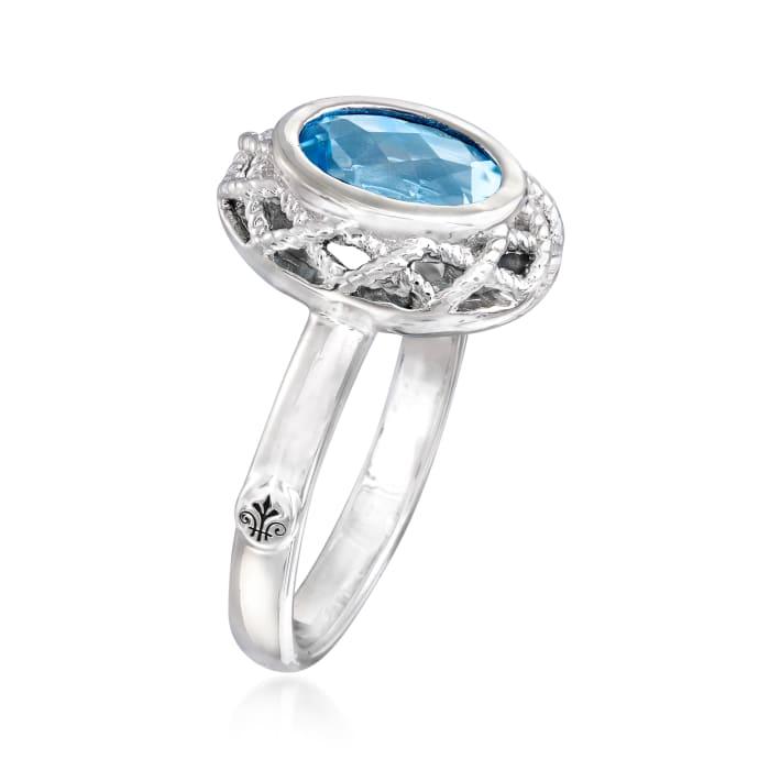 "Andrea Candela ""Rioja"" 2.00 Carat Blue Topaz Ring in Sterling Silver"