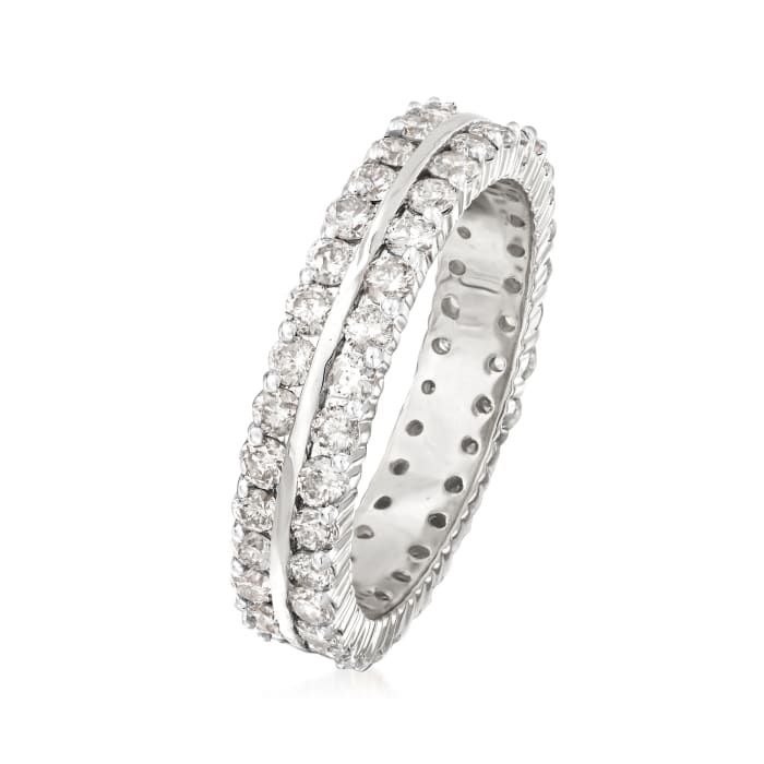 2.00 ct. t.w. Diamond Two-Row Eternity Band in 14kt White Gold