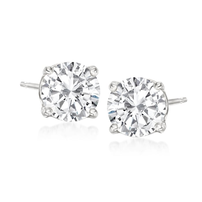 1.75 ct. t.w. Diamond Stud Earrings in 14kt White Gold