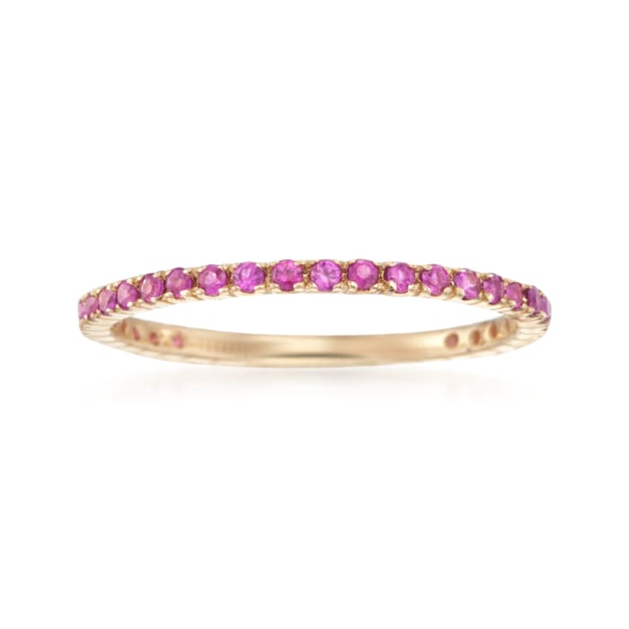.33 ct. t.w. Ruby Eternity Band in 14kt Yellow Gold