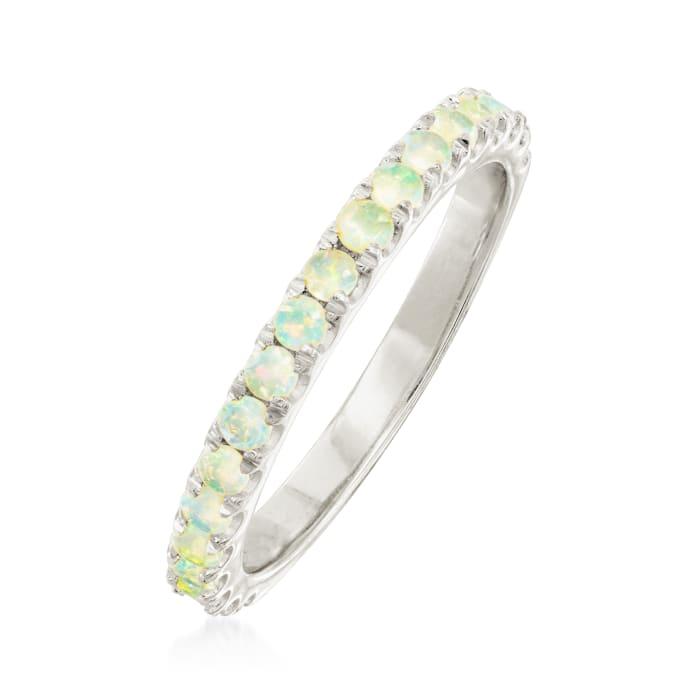 Opal Ring in Sterling Silver