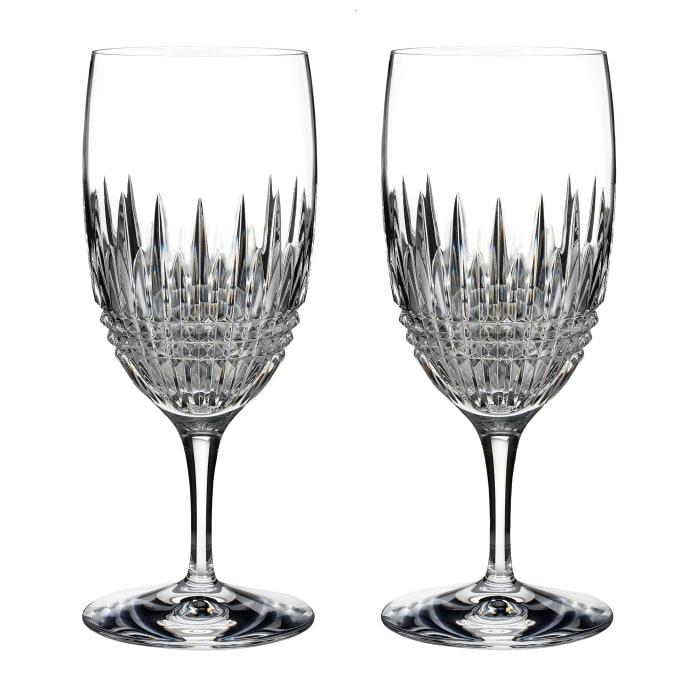 "Waterford Crystal ""Diamond Essence"" Set of 2 Lismore Iced Beverage Glasses"