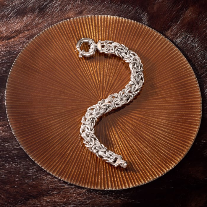 Italian Sterling Silver Byzantine Bracelet