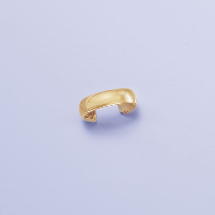 14kt Yellow Gold Wide Adjustable Toe Ring