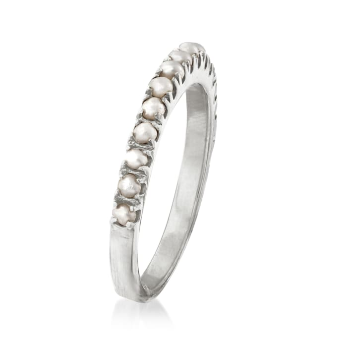 2mm Cultured Pearl Ring in Sterling Silver
