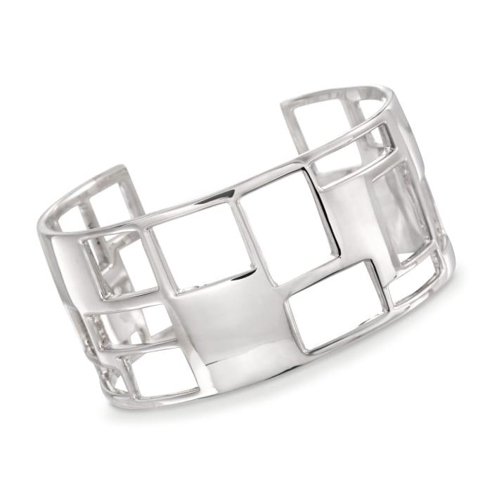 "Zina Sterling Silver ""Windows"" Cuff Bracelet"