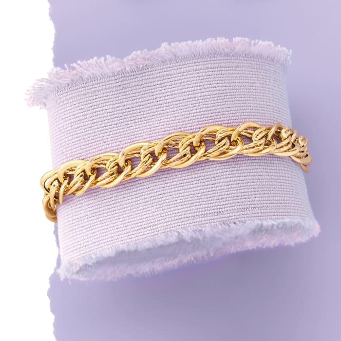 Italian 14kt Yellow Gold Oval-Link Bracelet