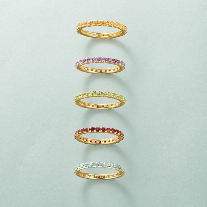 1.00 ct. t.w. Garnet Eternity Band in 14kt Yellow Gold