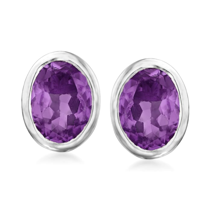 3.00 ct. t.w. Amethyst Earrings in Sterling Silver