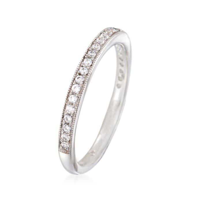Gabriel Designs .20 ct. t.w. Diamond Wedding Ring in 14kt White Gold