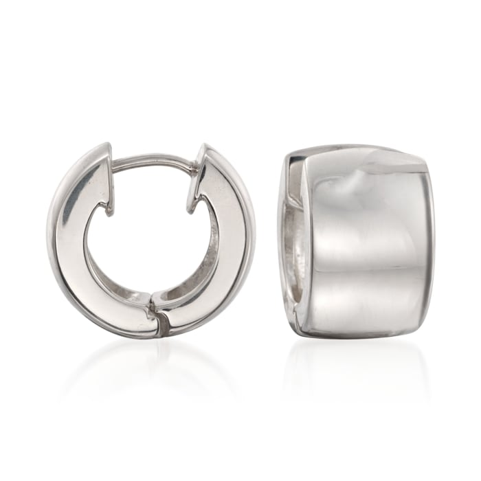 Zina Sterling Silver Huggie Hoop Earrings