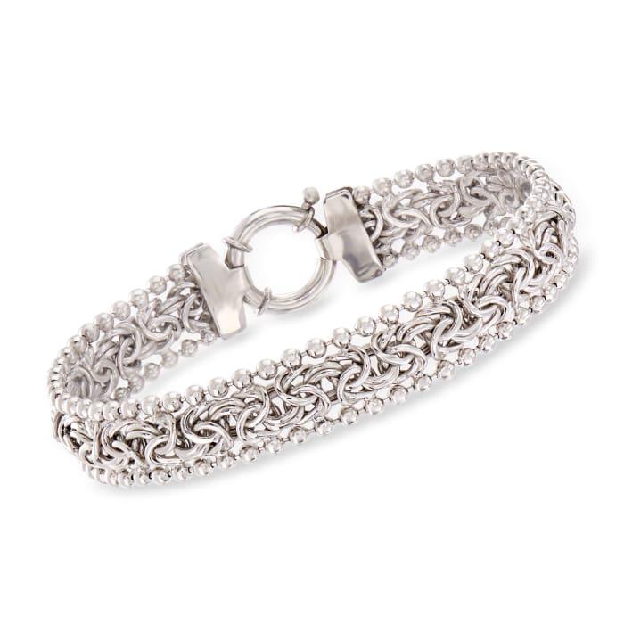 Byzantine Beaded Bracelet in Sterling Silver