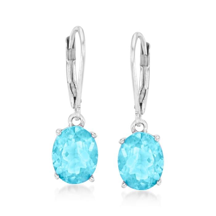 7.00 ct. t.w. Sky Blue Topaz Drop Earrings in Sterling Silver