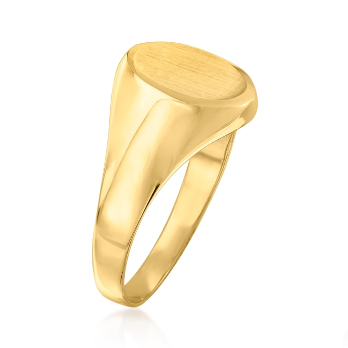 14kt Yellow Gold Single-Initial Signet Ring