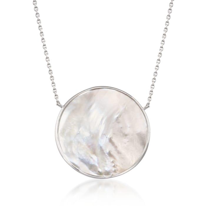 Mother-Of-Pearl Necklace in Sterling Silver