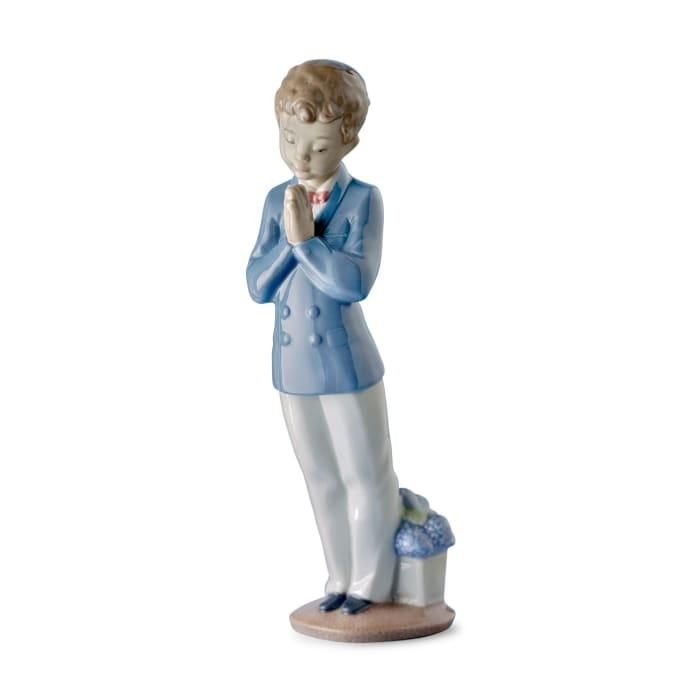 "Nao ""A Time to Pray"" First Communion Porcelain Figurine"