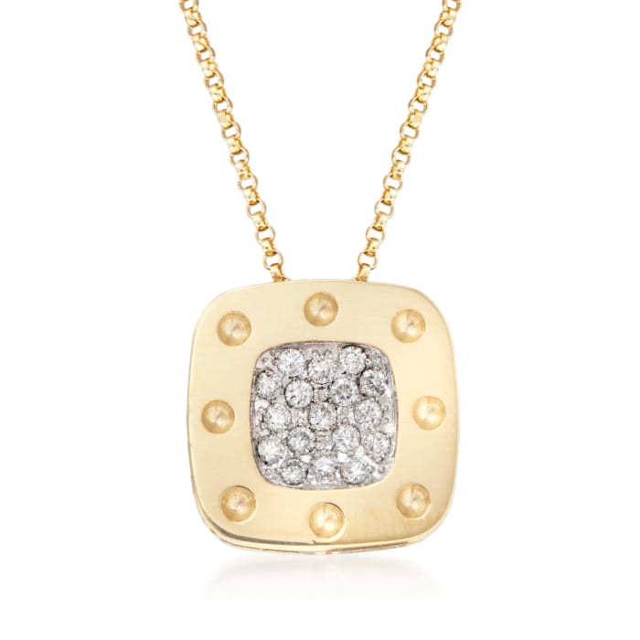 """Roberto Coin """"Pois Moi"""" .25 ct. t.w. Diamond Pendant Necklace in 18kt Two-Tone Gold"""
