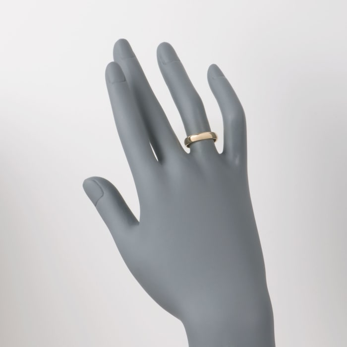 Women's 4mm 14kt Yellow Gold Wedding Ring