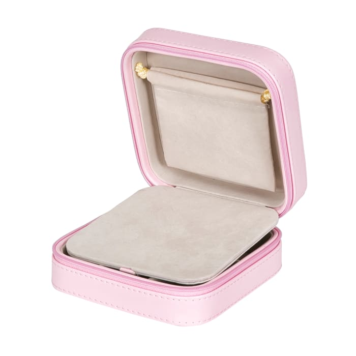 "Mele & Co. ""Josette"" Blush Faux Leather Travel Jewelry Case"