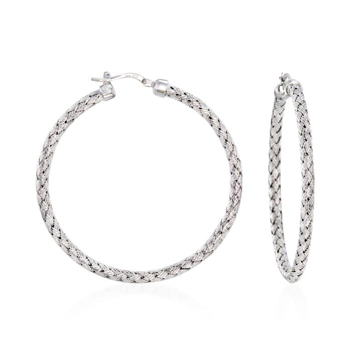 """Charles Garnier """"Milan"""" Sterling Silver Large Hoop Earrings"""