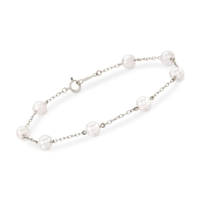 Mikimoto 5-5.5mm A+ Akoya Pearl Bracelet in 18kt White Gold