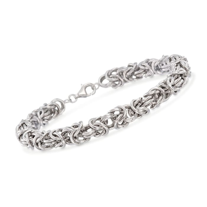 Men's Sterling Silver Medium Byzantine Bracelet