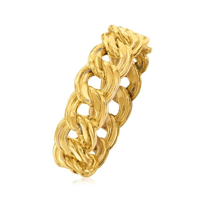Italian 14kt Yellow Gold Link Ring