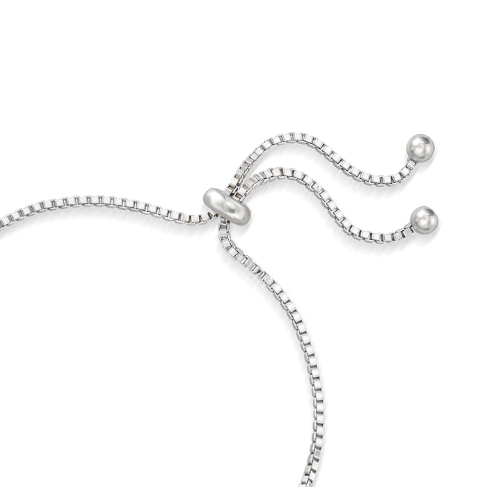 10.00 ct. t.w. Sky Blue Topaz Three-Row Bolo Bracelet in Sterling