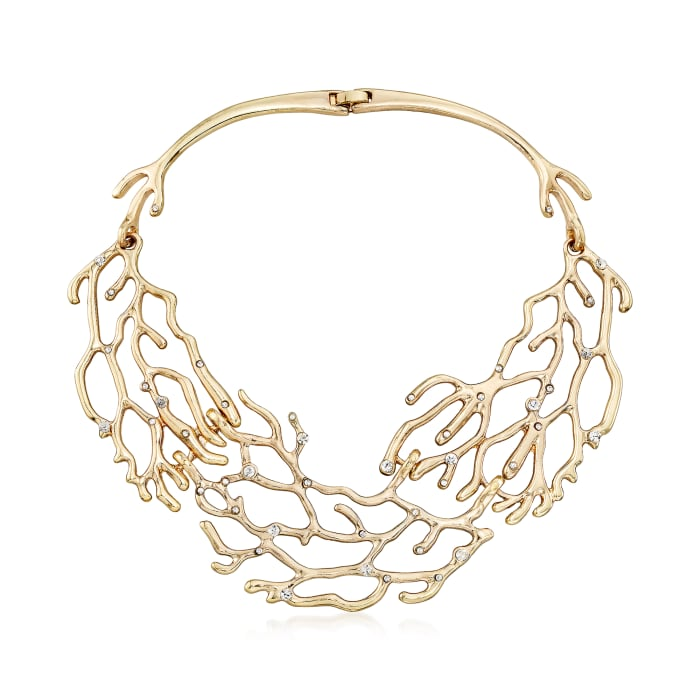 Via Collection Crystal Branch Bib Necklace