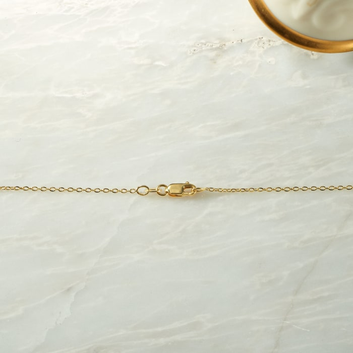 Italian 1mm 18kt Yellow Gold Cable Chain Necklace