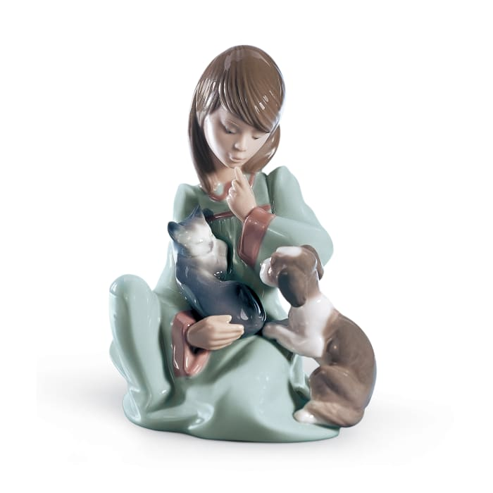 "Lladro ""Cat Nap"" Porcelain Figurine"