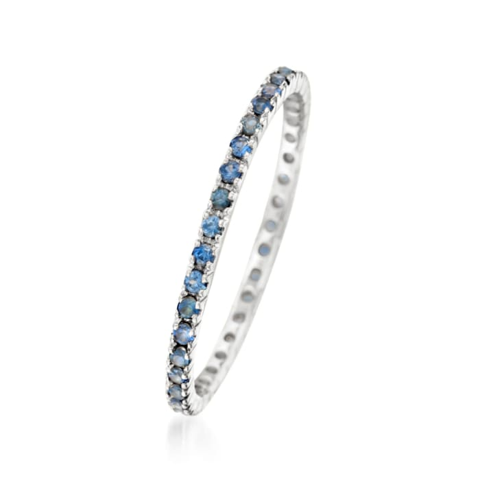 .33 ct. t.w. Sapphire Eternity Band in 14kt White Gold