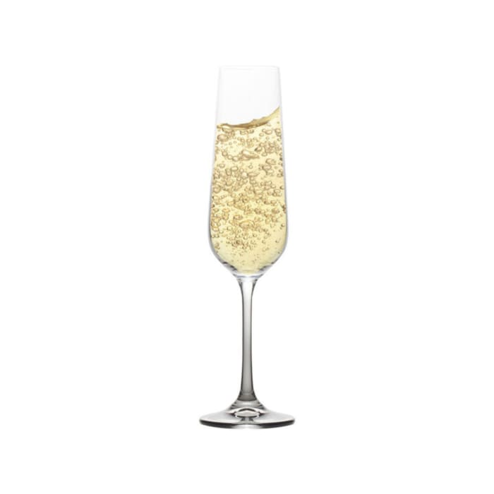 "Mikasa ""Gianna"" Set of 4 Ombre Smoke Champagne Flutes"