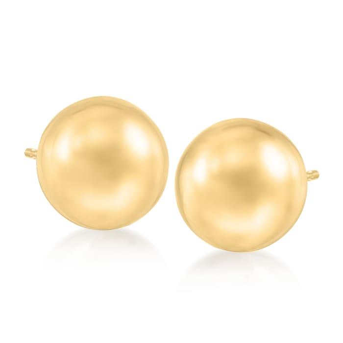10mm 14kt Yellow Gold Ball Stud Earrings