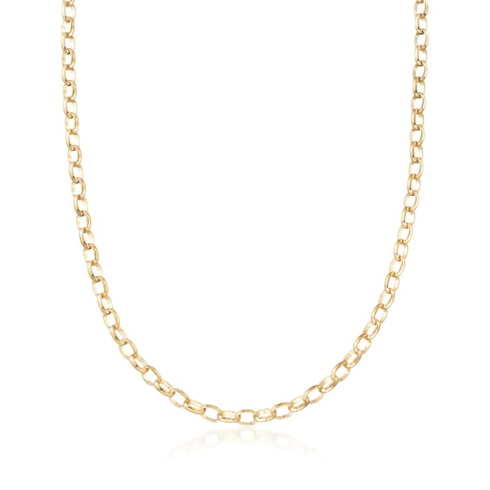Italian 14kt Yellow Gold Cable-Link Necklace