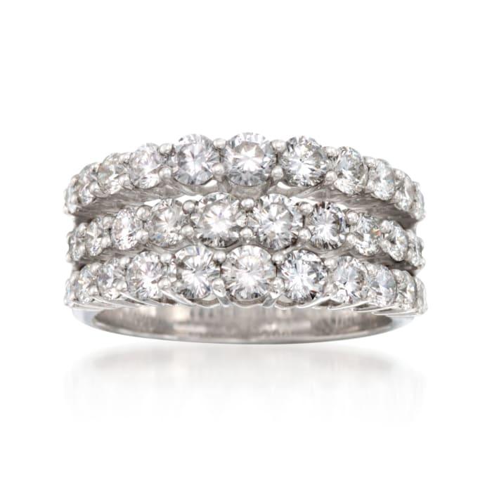 Simon G. 2.30 ct. t.w. Diamond Wedding Ring in 18kt White Gold