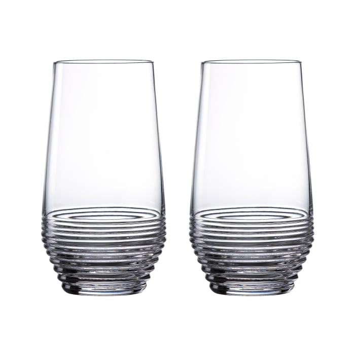 """Waterford Crystal """"Mixology Circon"""" Set of 2 Highball Glasses"""