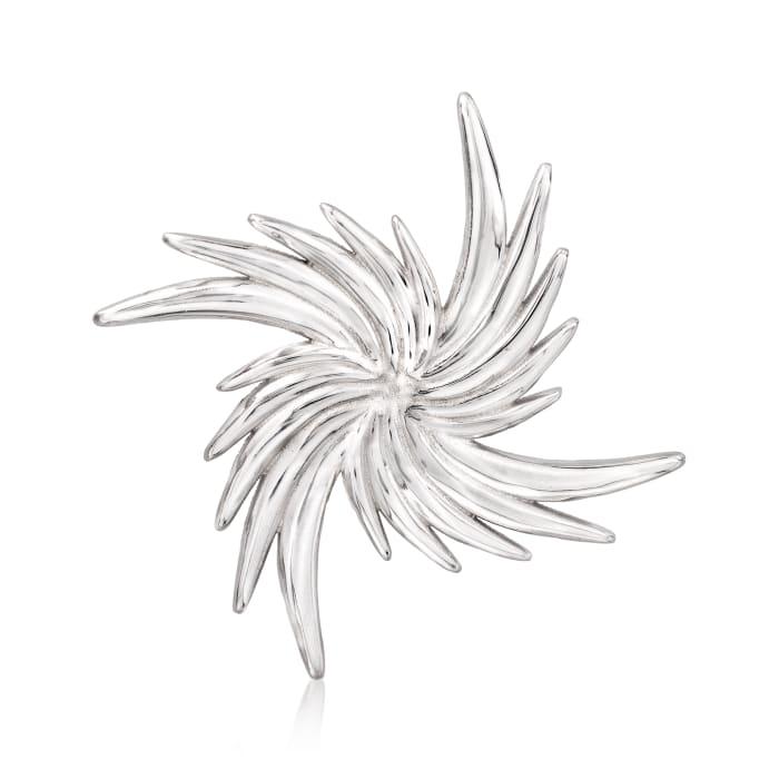 Italian Sterling Silver Pinwheel Pin