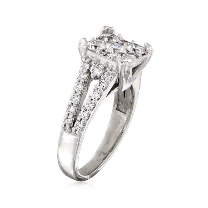 C. 2000 Vintage 1.55 ct. t.w. Diamond Ring in 14kt White Gold