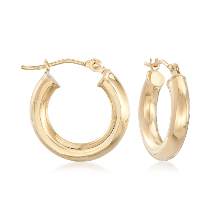 3mm 14kt Yellow Gold Huggie Hoop Earrings