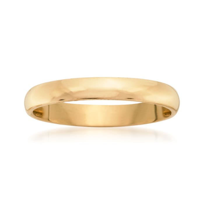 Women's 3mm 14kt Yellow Gold Wedding Ring